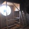 Schutzdach über einen Treppenaufgang
